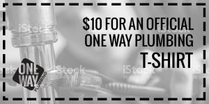 Coupon 10DollarTShirt OneWayPlumbing